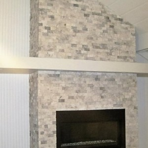 fireplace tiling